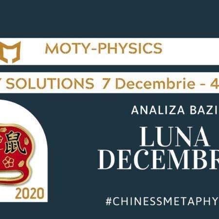 Analiza lunii DECEMBRIE – BAZI – Metafizica Chineza