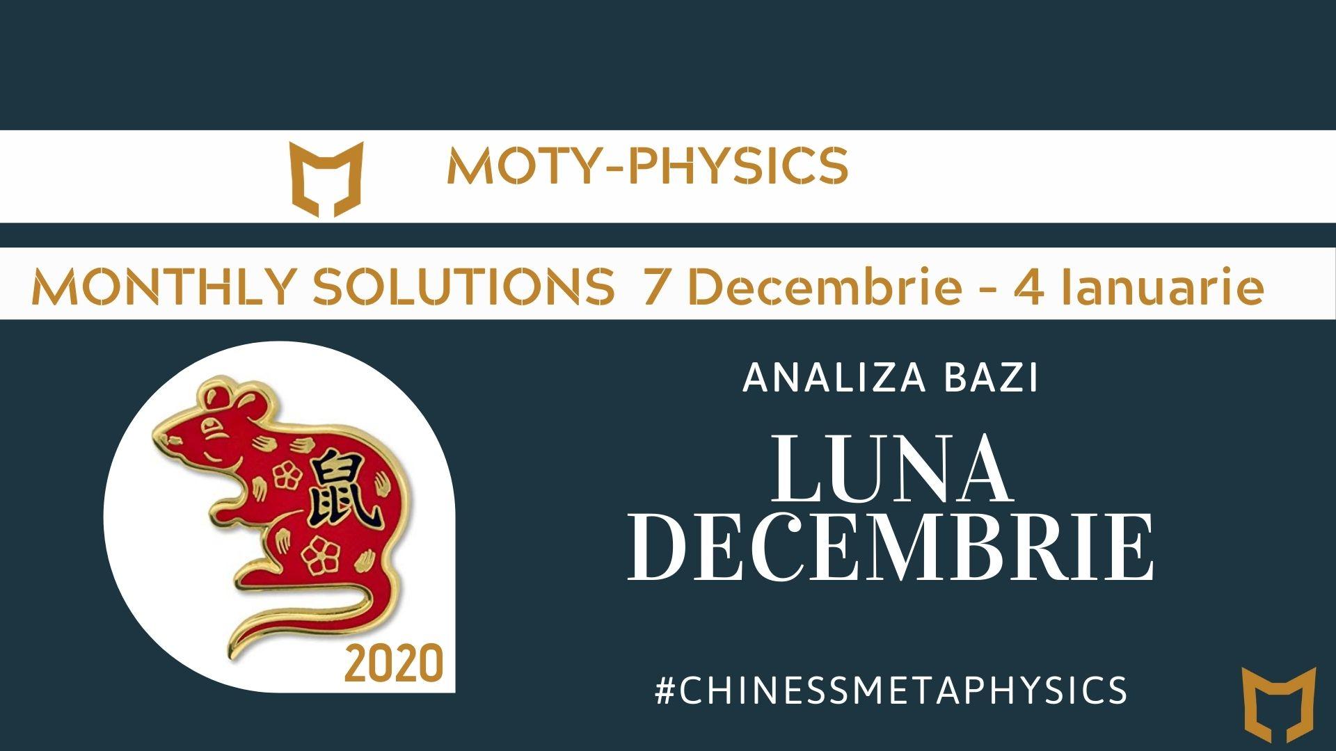 Analiza lunii Decembrie astrologie chineza